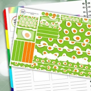 Green Eggs Passion Planner Daily Sticker Kit