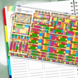 Bricks Passion Planner Daily Sticker Kit