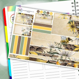 Honey To The Bee Passion Planner Daily Sticker Kit