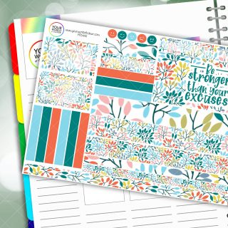 Stronger Passion Planner Daily Sticker Kit