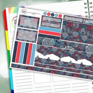Swirly Passion Planner Daily Sticker Kit