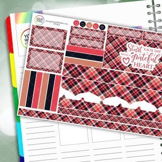 Grateful Heart Passion Planner Daily Sticker Kit