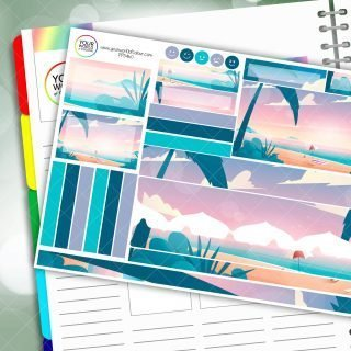Beach Front Passion Planner Daily Sticker Kit