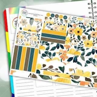 Summer Yellow Floral Passion Planner Daily Sticker Kit