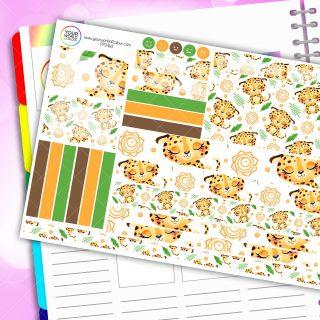 Cheetah Zen Passion Planner Daily Sticker Kit