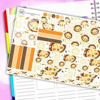Loyal Lion Passion Planner Daily Sticker Kit