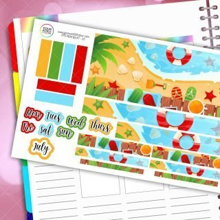 Summer Monthly Passion Planner Daily Sticker Kit