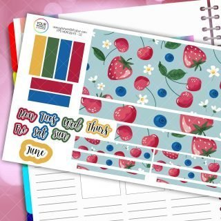 Berry Sweet Monthly Passion Planner Daily Sticker Kit