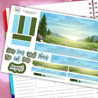 Forest Monthly Passion Planner Daily Sticker Kit