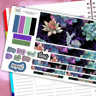 Cacti Monthly Passion Planner Daily Sticker Kit
