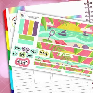 Beach Life Monthly Passion Planner Daily Sticker Kit - Choose Your Month