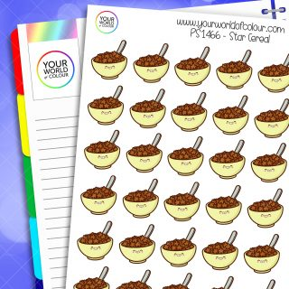 Star Cereal Planner Stickers