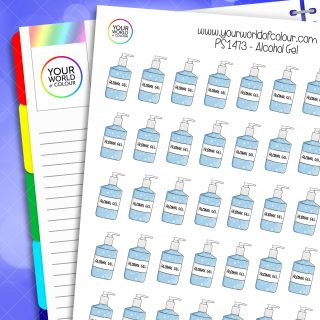 Alcohol Gel Planner Stickers