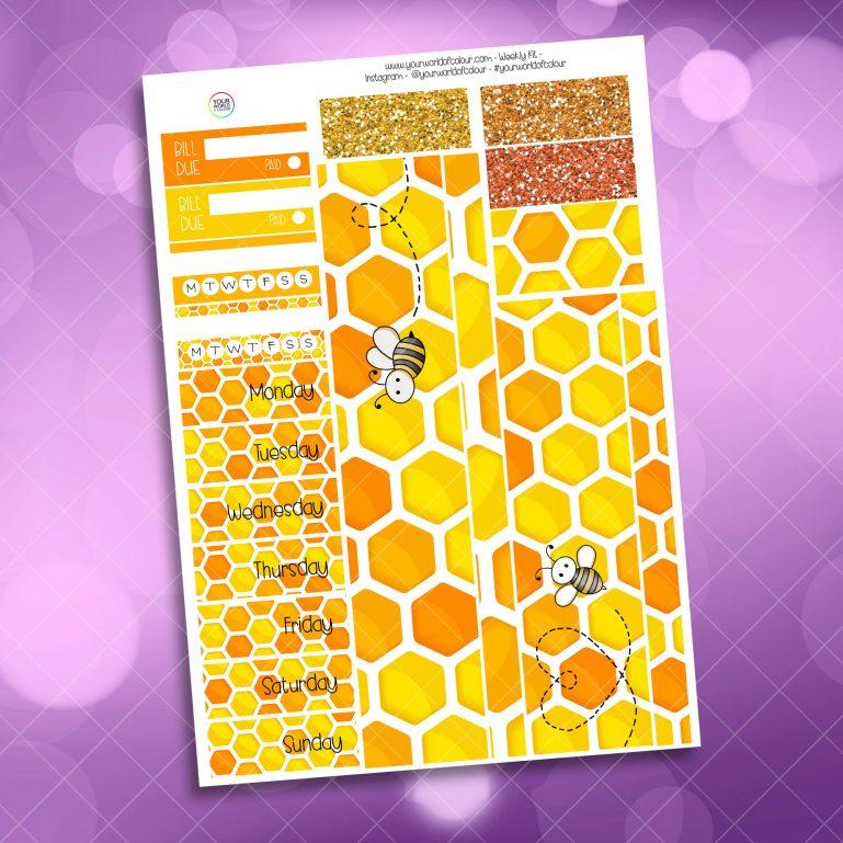 Queen Bee Weekly Kit washi