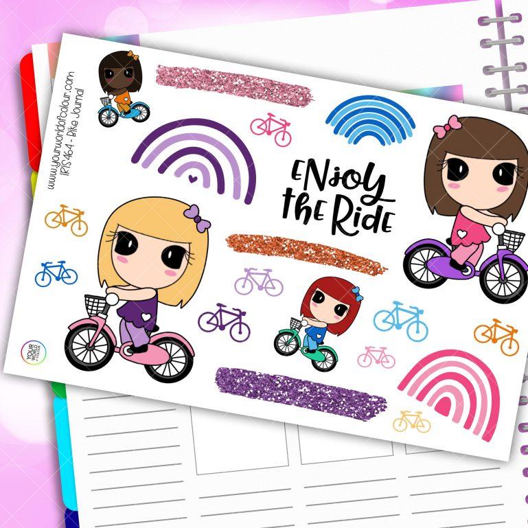 Bike Journaling Planner Stickers