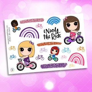 Bike Journaling Planner Sticker