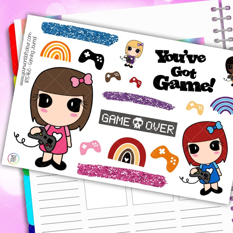 Gaming Journaling Planner Stickers
