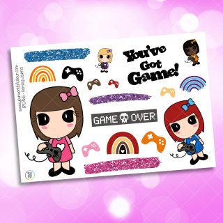 Gaming Journaling Planner Sticker