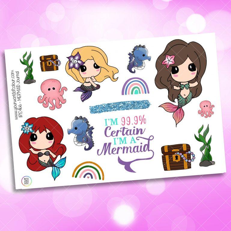 Mermaid Journaling Planner Sticker