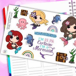 Mermaid Journaling Planner Stickers