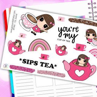 Tea Journaling Planner Stickers