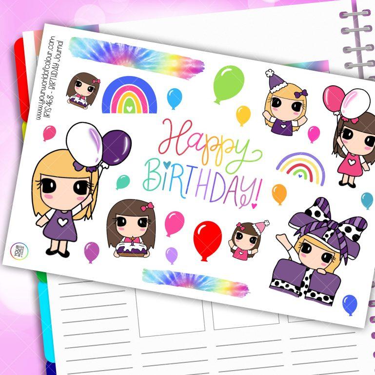 Birthday Journaling Planner Stickers