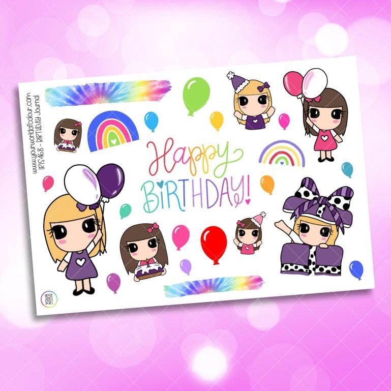 Birthday Journaling Planner Sticker
