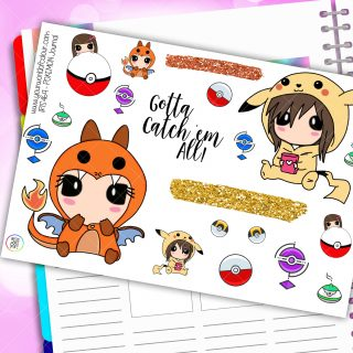 Pokemon Journaling Planner Stickers