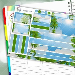 Blue Skies Passion Planner Daily Sticker Kit