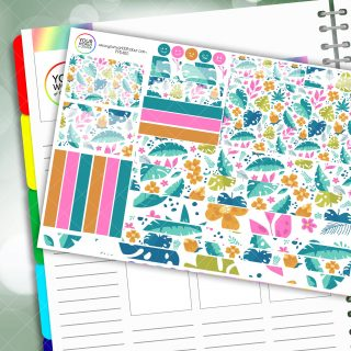 Summer Leaves Passion Planner Daily Sticker Kit
