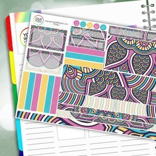 Sweet Shop Mandala Passion Planner Daily Sticker Kit