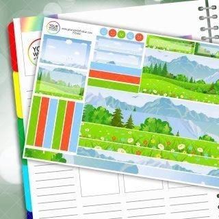 Moutain Escape Passion Planner Daily Sticker Kit