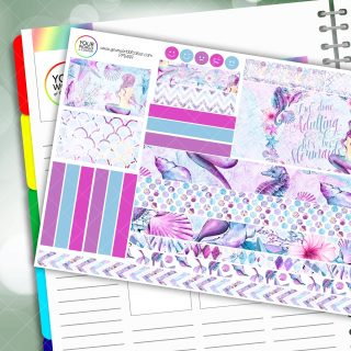 Mermaid Life Passion Planner Daily Sticker Kit