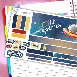 Little Explorer Monthly Passion Planner Daily Sticker Kit