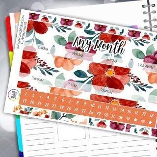 Eden Monthly Erin Condren Planner Sticker Kit for Standard Vertical