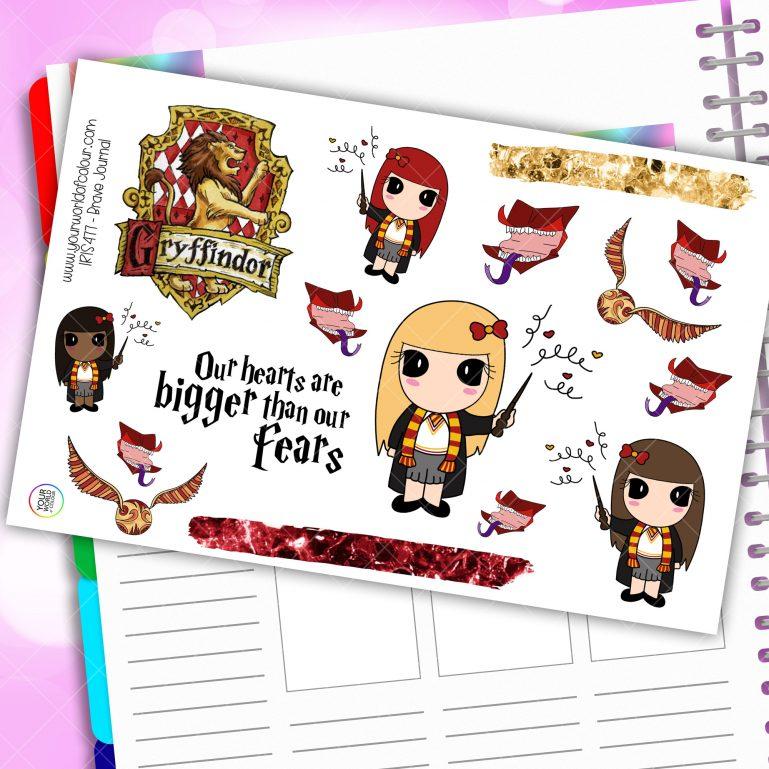 Brave Journaling Planner Stickers