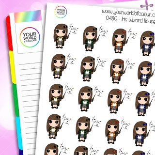 Daisy Wizard Houses Character Stickers