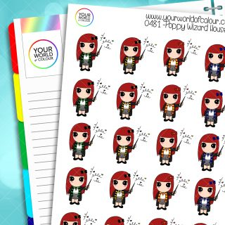 Poppy Wizard Houses Character Stickers