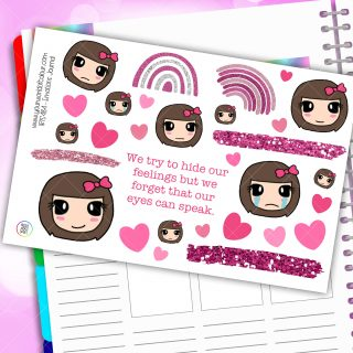 Emotions Journaling Planner Stickers