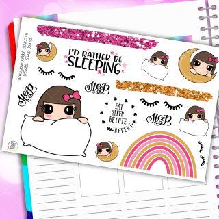 Sleep Journaling Planner Stickers