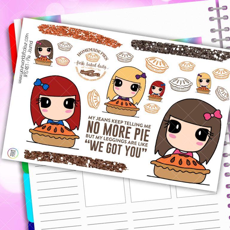 Pie Journaling Planner Stickers