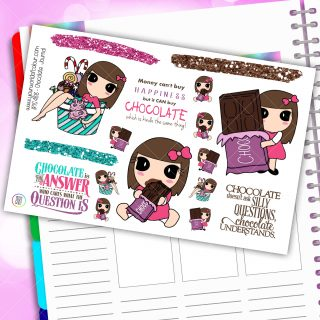 Chocolate Journaling Planner Stickers