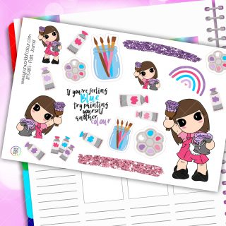 Paint Journaling Planner Stickers