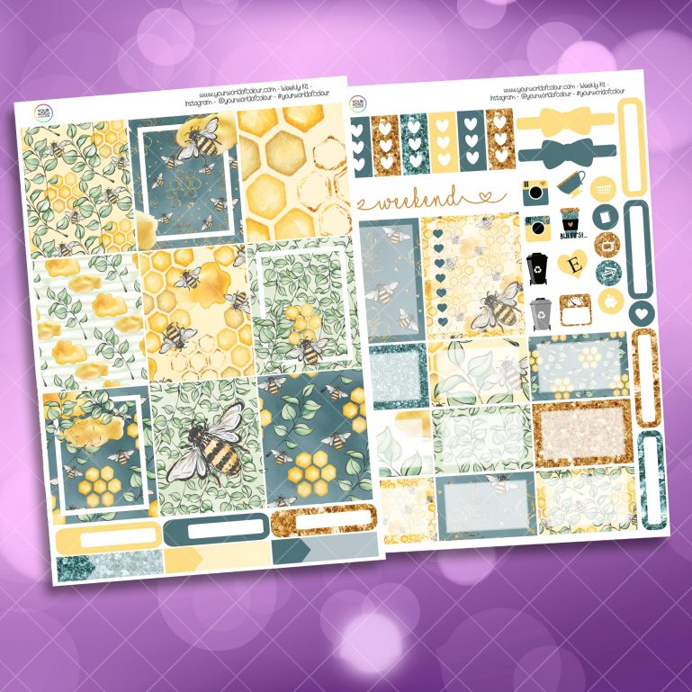 Bees Two Page Mini Kit