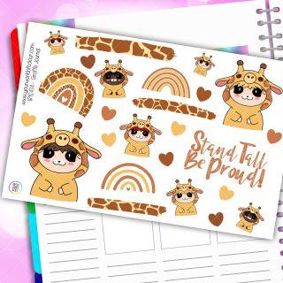 Giraffe Journaling Planner Stickers