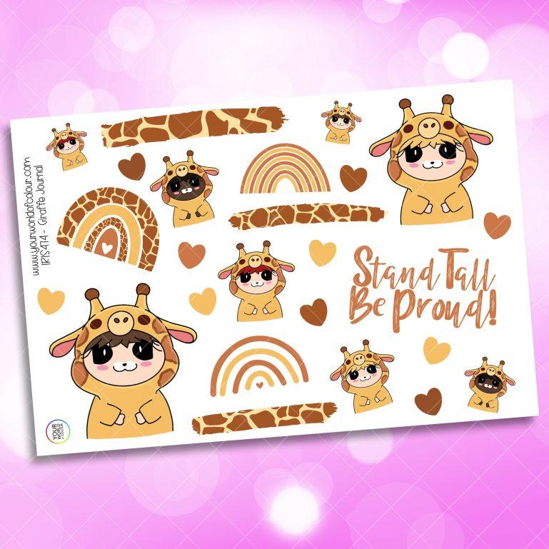 Giraffe Journaling Planner Sticker