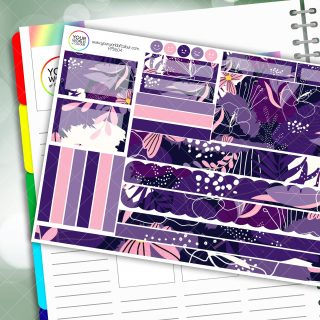 Violet Tumble Passion Planner Daily Sticker Kit