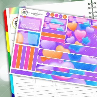 Happy Birthday to you Passion Planner Daily Sticker Kit