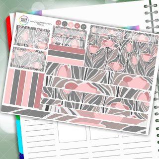Rose Daze Passion Planner Daily Sticker Kit