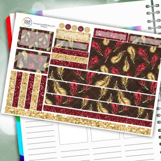 Confident Feathers Passion Planner Daily Sticker Kit